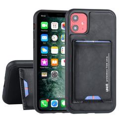 Apple iPhone 11 UNIQ Accessory Schwarz Titulaire de la carte Noir - 2 positions d'observation