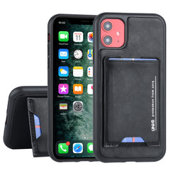 UNIQ Accessory Apple iPhone 11 Zwart Backcover hoesje Pasjeshouder