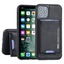 UNIQ Accessory Apple iPhone 11 Pro Zwart Backcover hoesje Pasjeshouder