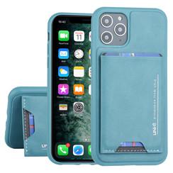 Apple iPhone 11 Pro UNIQ Accessory Groen Backcover hoesje Pasjeshouder - 2 Kijkstanden - Kunstleer
