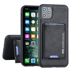 UNIQ Accessory Apple iPhone 11 Pro Max Zwart Backcover hoesje Pasjeshouder