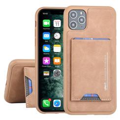 UNIQ Accessory Apple iPhone 11 Pro Max Bruin Backcover hoesje Pasjeshouder
