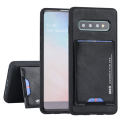 Samsung Galaxy S10 UNIQ Accessory Schwarz Titulaire de la carte Noir - 2 positions d'observation