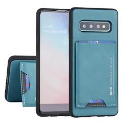 Samsung Galaxy S10 UNIQ Accessory Groen Backcover hoesje Pasjeshouder - 2 Kijkstanden - Kunstleer
