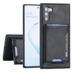 Samsung Galaxy Note 10 UNIQ Accessory Zwart Backcover hoesje Pasjeshouder - 2 Kijkstanden - Kunstleer