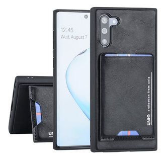 UNIQ Accessory Samsung Galaxy Note 10 Zwart Backcover hoesje - Pasjeshouder