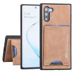 Samsung Galaxy Note 10 UNIQ Accessory Bruin Backcover hoesje Pasjeshouder - 2 Kijkstanden - Kunstleer