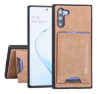 UNIQ Accessory Samsung Galaxy Note 10 Bruin Backcover hoesje Pasjeshouder