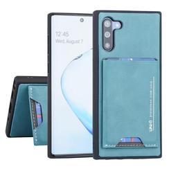 Samsung Galaxy Note 10 UNIQ Accessory Groen Backcover hoesje Pasjeshouder - 2 Kijkstanden - Kunstleer