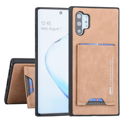 Samsung Galaxy Note 10 Plus Back cover case Card holder Brown for Galaxy Note 10 Plus 2 Viewing Positions
