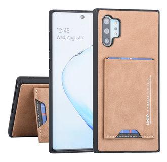 UNIQ Accessory Samsung Galaxy Note 10 Plus Bruin Backcover hoesje Pasjeshouder