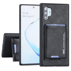Samsung Galaxy Note 10 Plus UNIQ Accessory Zwart Backcover hoesje Pasjeshouder - 2 Kijkstanden - Kunstleer