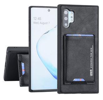 UNIQ Accessory Samsung Galaxy Note 10 Plus Zwart Backcover hoesje Pasjeshouder