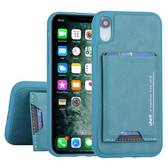 Apple iPhone XR Back cover case Card holder Green for iPhone XR 2 Viewing Positions
