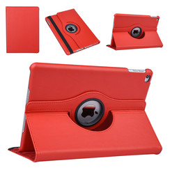 """Apple Ipad 9.7"""" 2018 Red Book case Tablet - Rotatable"""