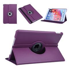 Apple iPad 10.2 2019 Paars Book Case Tablethoes Draaibaar