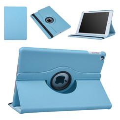 """Apple Ipad 9.7"""" 2018 & iPad Air  Blauw Book Case Tablethoes Draaibaar"""