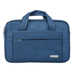 Universeel Universal 15 inch Laptop tasche Blau Smooth - Kunstleer