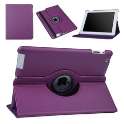 Apple iPad 2-3-4 Paars Book Case Tablethoes Draaibaar