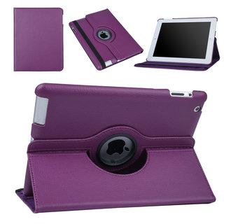 Apple iPad 2-3-4 Paars Book Case Tablethoes Draaibaar