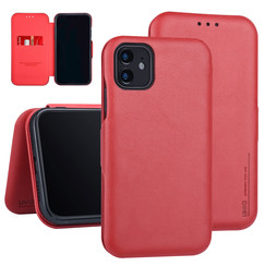 Apple iPhone 11 Book-Case hul Rot Kartenhalter - Kunstleer