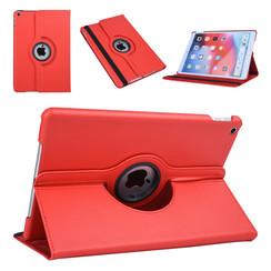 Apple iPad 10.2 2019 Rood Book Case Tablethoes Draaibaar