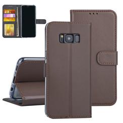 Samsung Galaxy S8 Bruin Booktype hoesje Pasjeshouder