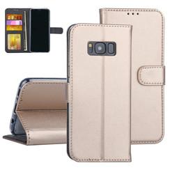 Samsung Galaxy S8 Goud Booktype hoesje Pasjeshouder