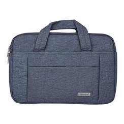 Universeel Universal 14 inch Laptop tasche Grau Smooth - Kunstleer