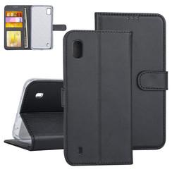 Samsung Galaxy A10 Zwart Booktype hoesje Pasjeshouder