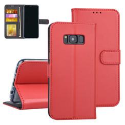 Samsung Galaxy S8 Rood Booktype hoesje Pasjeshouder