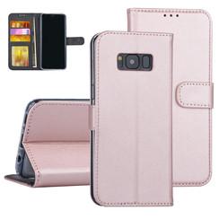 Samsung Galaxy S8 Rose Gold Booktype hoesje Pasjeshouder