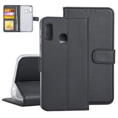 Samsung Galaxy A20e Zwart Booktype hoesje Pasjeshouder - Kunstleer