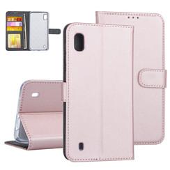 Samsung Galaxy A10 Rose Gold Booktype hoesje Pasjeshouder - Kunstleer