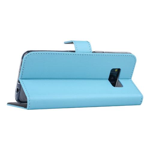 Andere merken Samsung Galaxy S8 Book-Case hul Blau Kartenhalter - Kunstleer