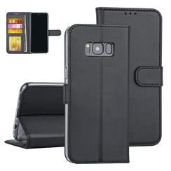 Samsung Galaxy S8 Zwart Booktype hoesje Pasjeshouder