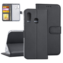 Samsung Galaxy A40 Book type housse Titulaire de la carte Noir