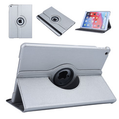Apple iPad 10.2 2019 Book case Tablet Rotatable Silver for iPad 10.2 2019
