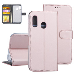 Samsung Galaxy A40 Book type housse Titulaire de la carte Rose Or