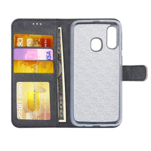 Andere merken Samsung Galaxy A40 Book type housse Titulaire de la carte Rose Or