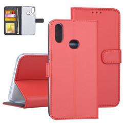 Samsung Galaxy A10s Rood Booktype hoesje Pasjeshouder - Kunstleer
