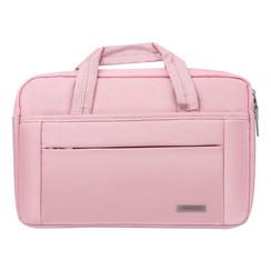 Universeel Universal 14 inch Laptop tasche Pink Smooth - Kunstleer
