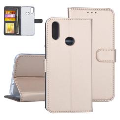 Samsung Galaxy A10s Goud Booktype hoesje Pasjeshouder - Kunstleer