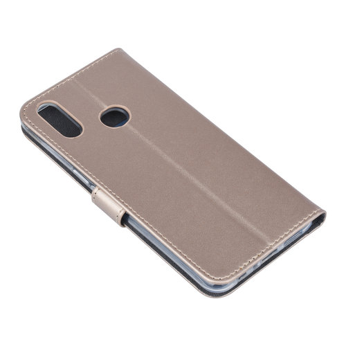 Andere merken Samsung Galaxy A10s Book-Case hul Gold Kartenhalter - Kunstleer