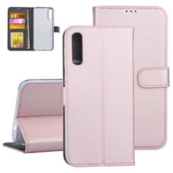 Samsung Galaxy A50 Rose Gold Booktype hoesje Pasjeshouder - Kunstleer