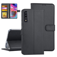 Samsung Galaxy A70 Book-Case hul Schwarz Kartenhalter - Kunstleer