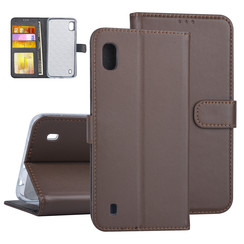 Samsung Galaxy A10 Book-Case hul Braun Kartenhalter - Kunstleer