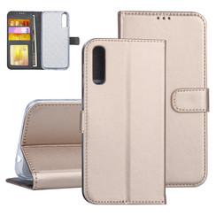 Samsung Galaxy A50 Goud Booktype hoesje Pasjeshouder - Kunstleer