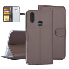 Samsung Galaxy A10s Book-Case hul Braun Kartenhalter - Kunstleer