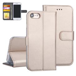 Apple iPhone 7/8 Book-Case hul Gold Kartenhalter - Kunstleer